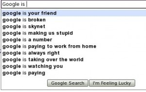 Google Suggestions for query Google is