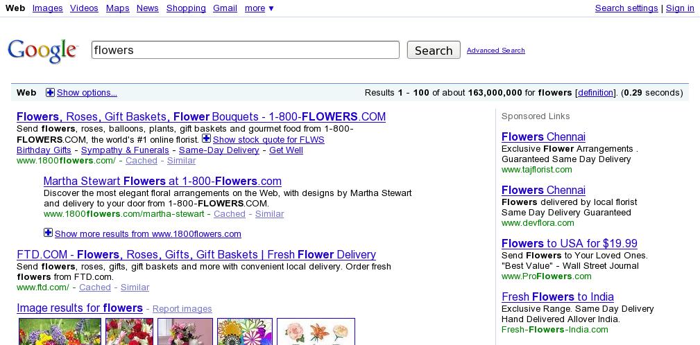 Google Bigger Inner Page Search Box