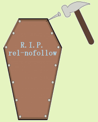 Death of rel=no follow