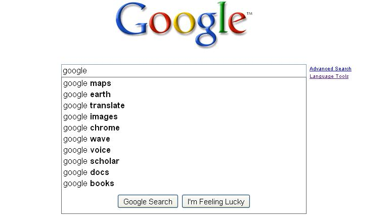 Google Search Suggestions Updated