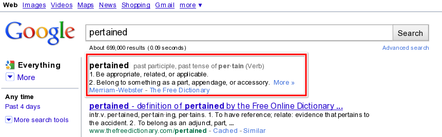 Google Now Shows Definitions In SERP - SEO Services Group