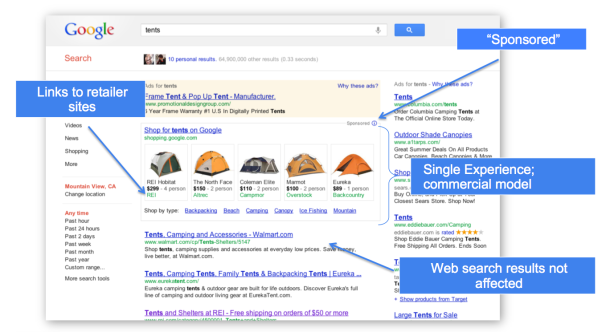 Google Paid-Product Listing in Search Results Page